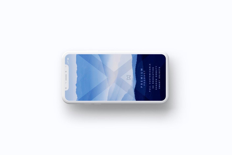 Clay iPhone X Mockup 08