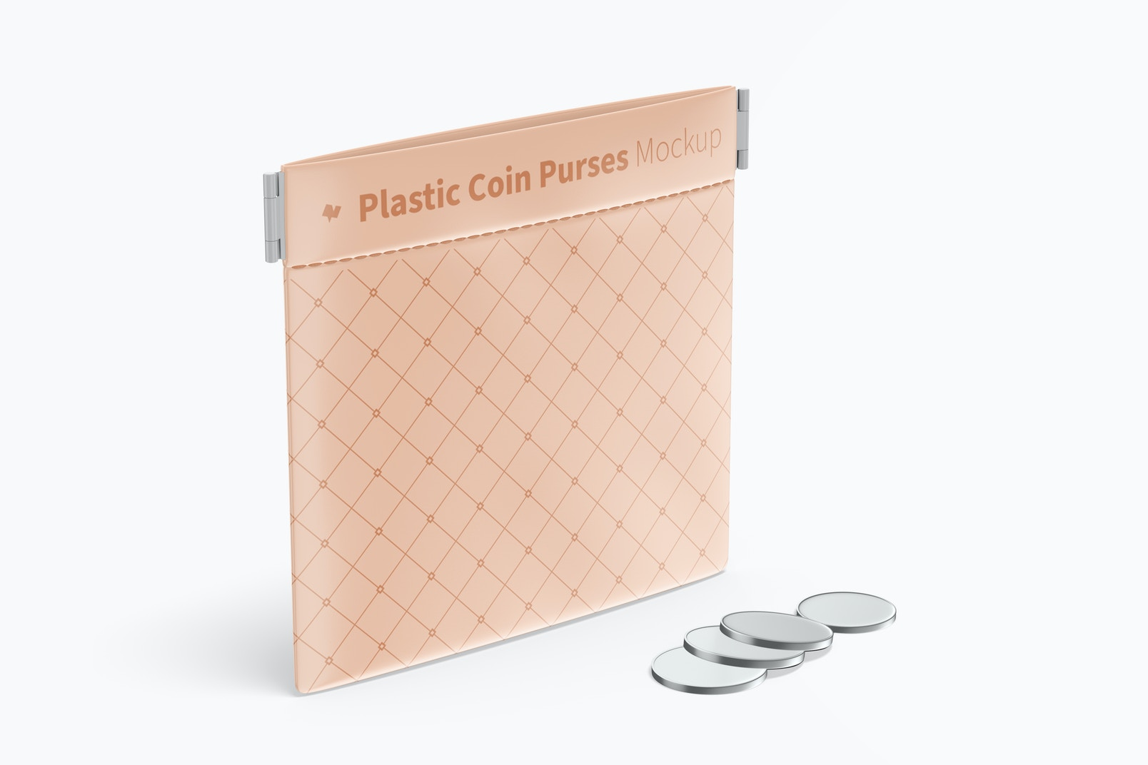 Plastic Coin Purse Mockup, Perspective