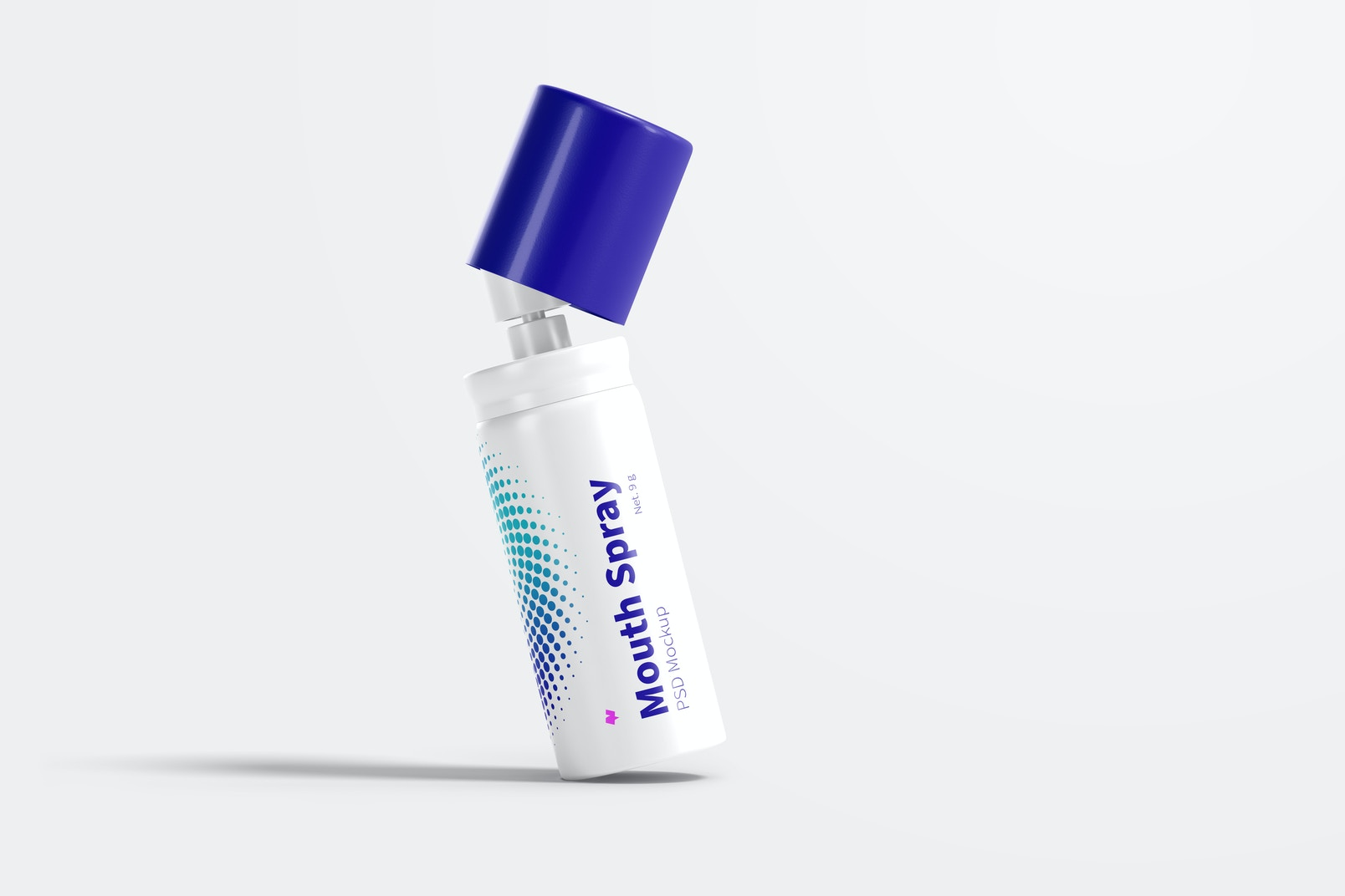 Mouth Spray Mockup, Leaned