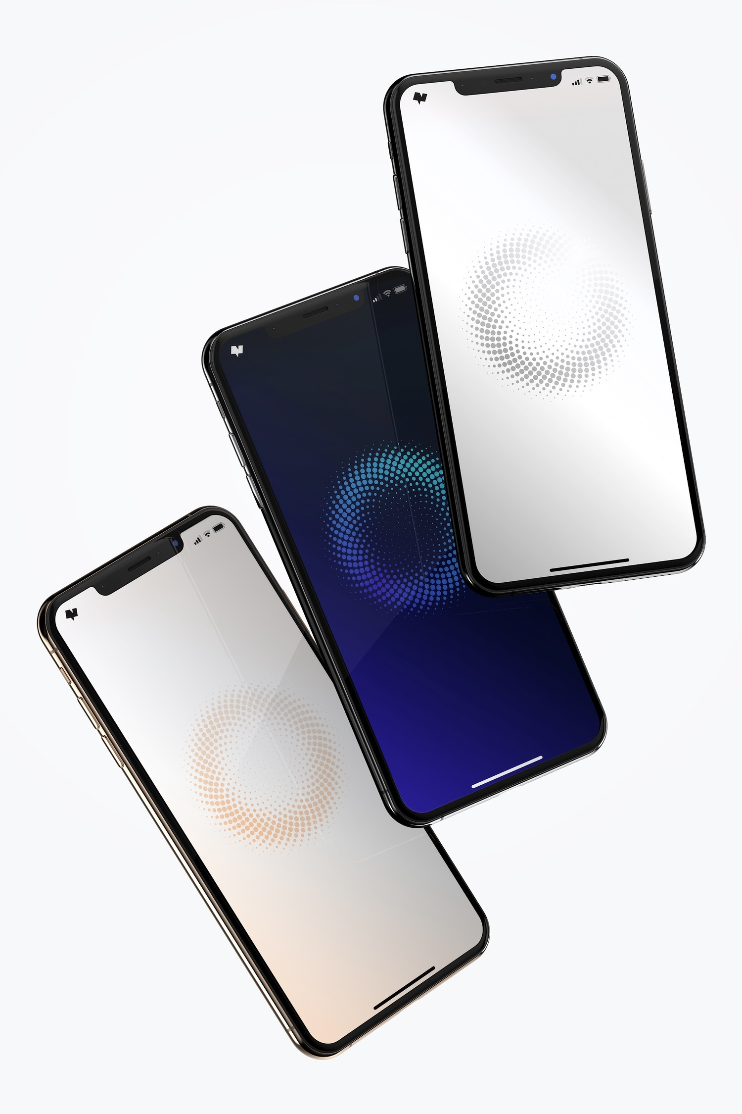 Show the 3 versions of iPhone XS Max.