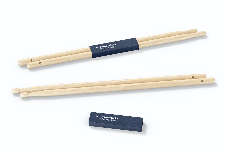 Drumsticks Mockup