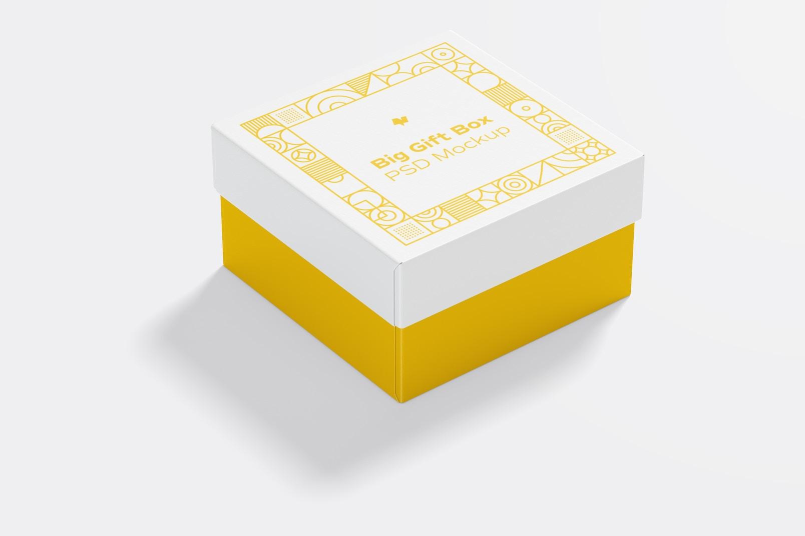 Big Gift Box Mockup