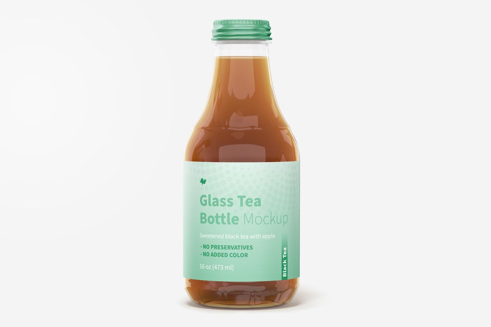 16 oz Glass Tea Bottle Mockup