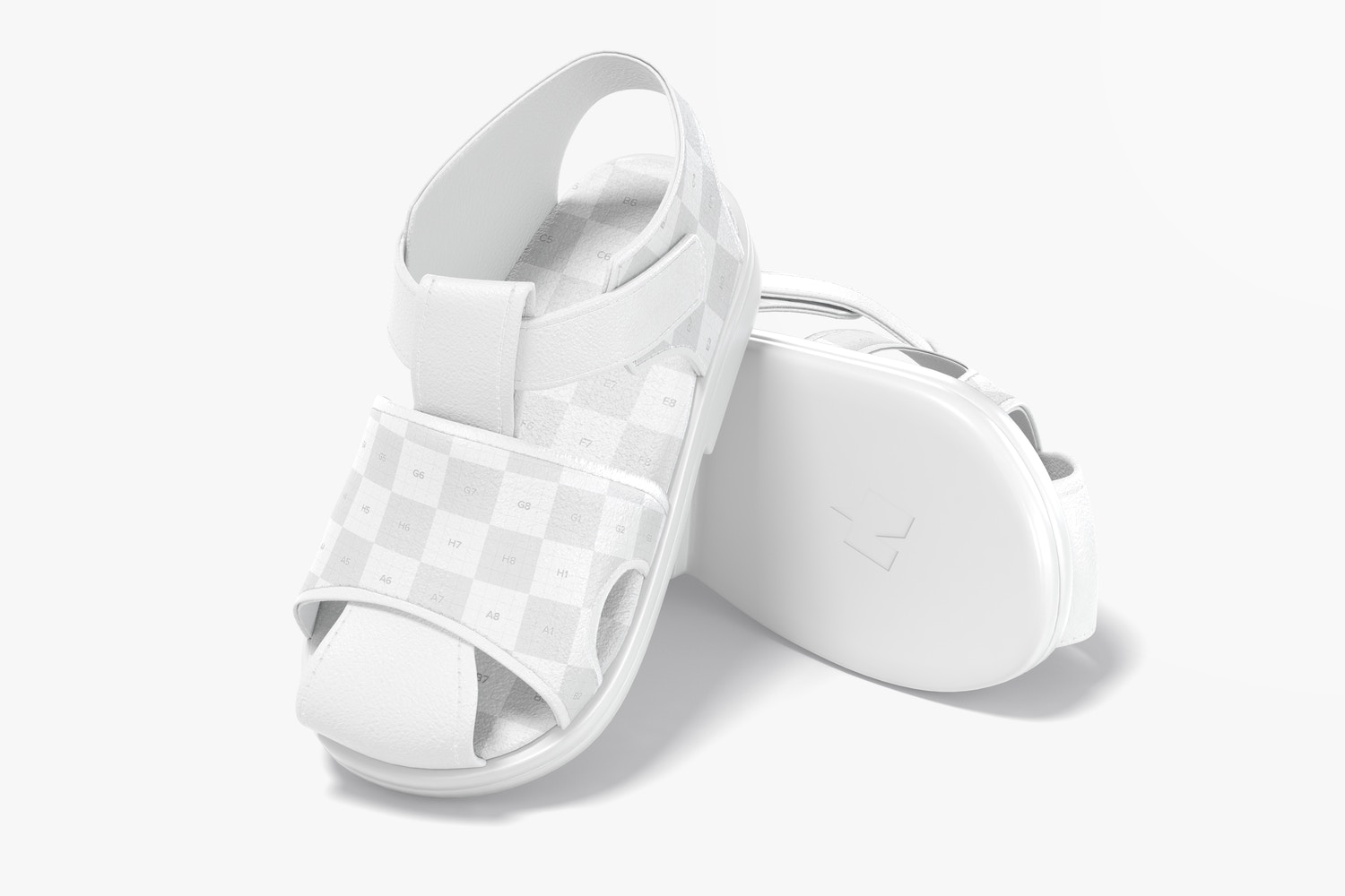 Baby Shoes Mockup, Leaned