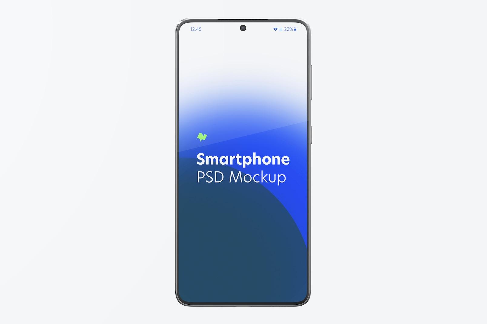 Maqueta de Samsung S21, Vista Frontal