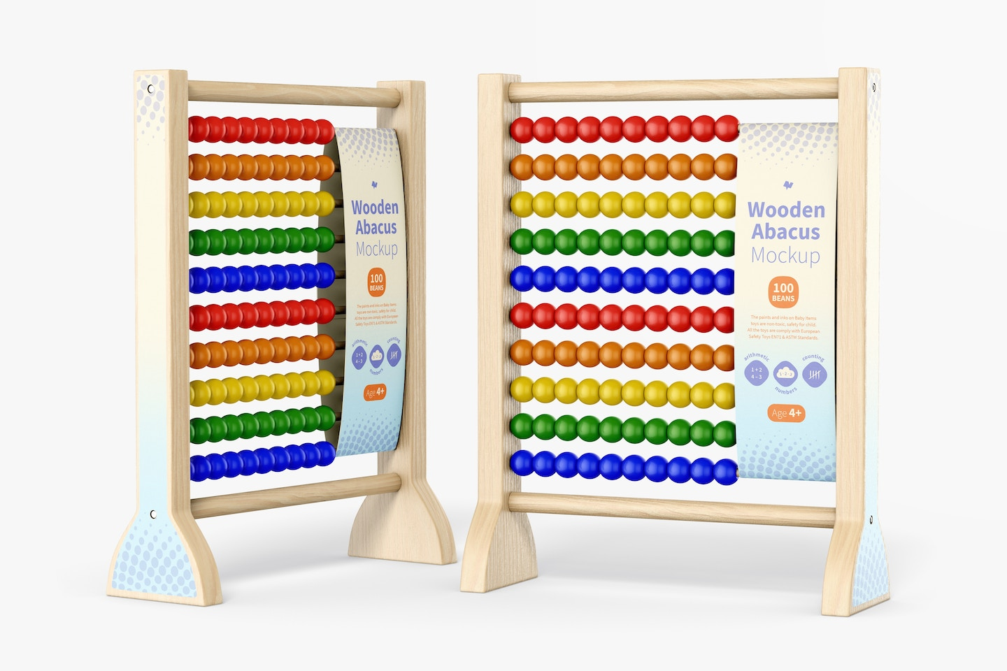 Wooden Abacus Mockup, Perspective