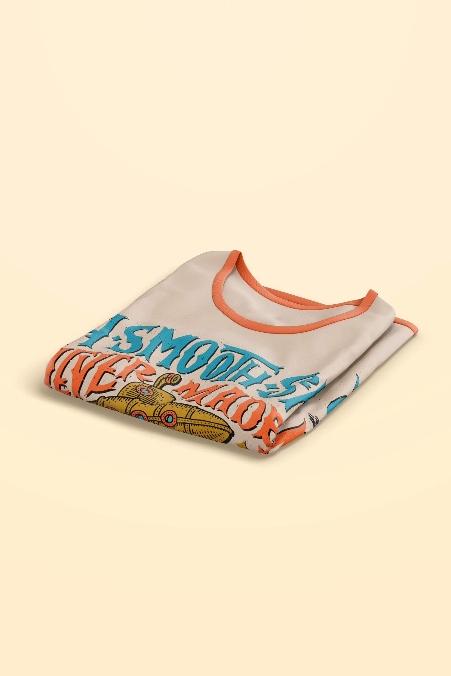 T-Shirt Mockup, Isometric View