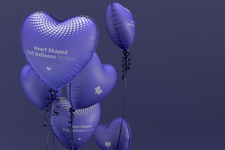 Heart Shaped Foil Balloons Mockup