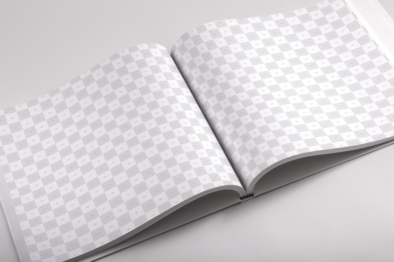 Hardcover Large Square Book PSD Mockup 04