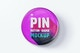 Pin Button Badge Mockup, Front View