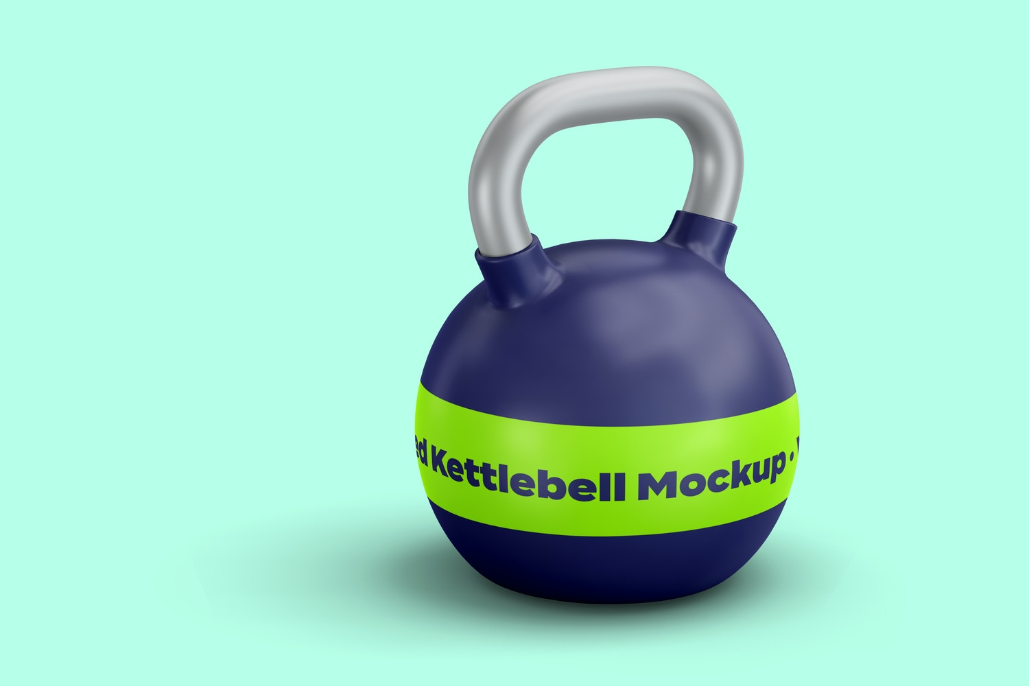 Here you can appreciate the metallic details on the grip of the kettlebell.