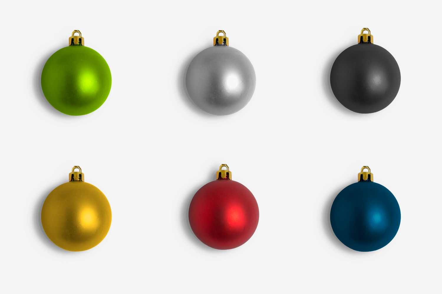 Christmas Colorful Ornaments Smooth Isolate by Original Mockups on Original Mockups