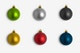 Christmas Colorful Ornaments Smooth Isolate