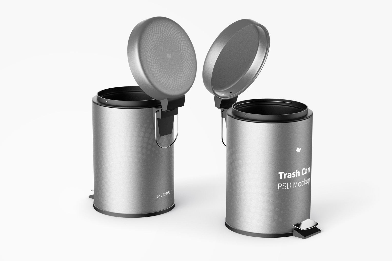 Trash Cans With Foot Pedal Mockup