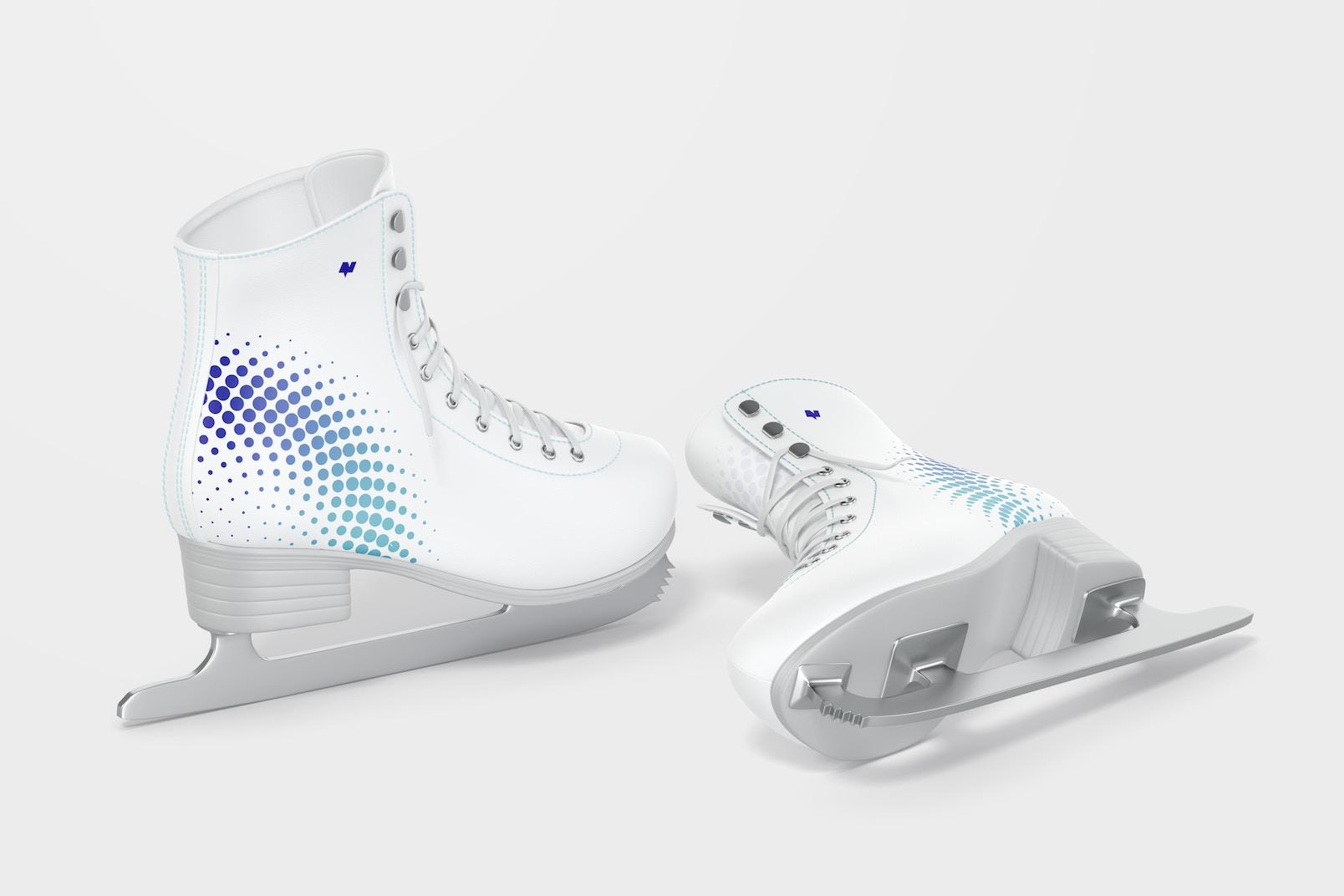 Ice Skates Mockup