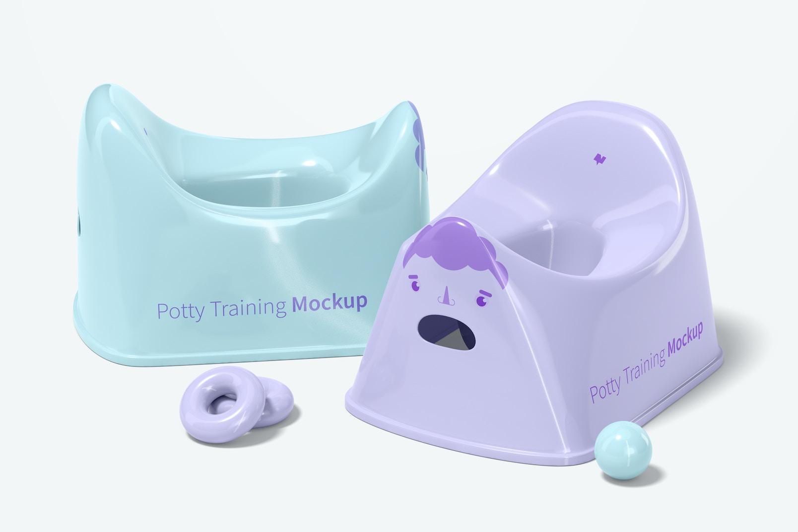 Potty Training Mockup, Perspective