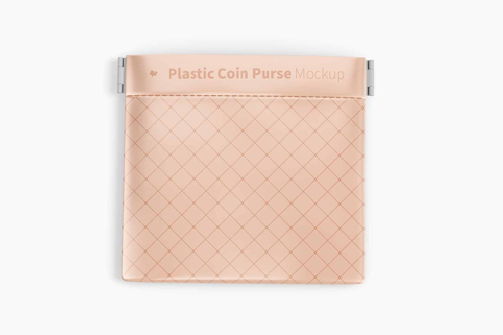 Plastic Coin Purse Mockup, Top View