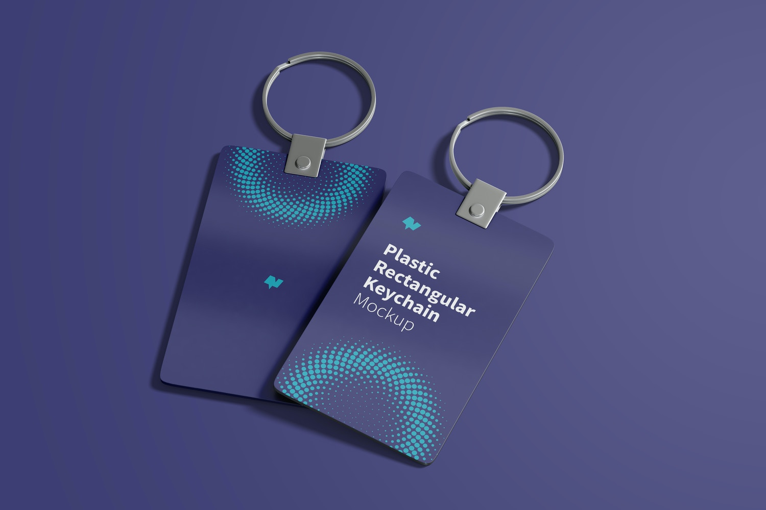 Take advantage of this perspective and show two angles of the keychains and your design.