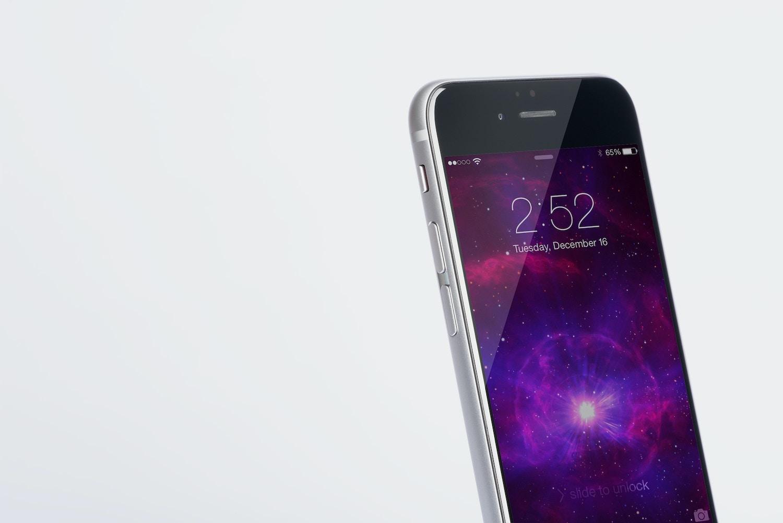 Iphone 6 Spacegray PSD Mockup 04 by Original Mockups on Original Mockups