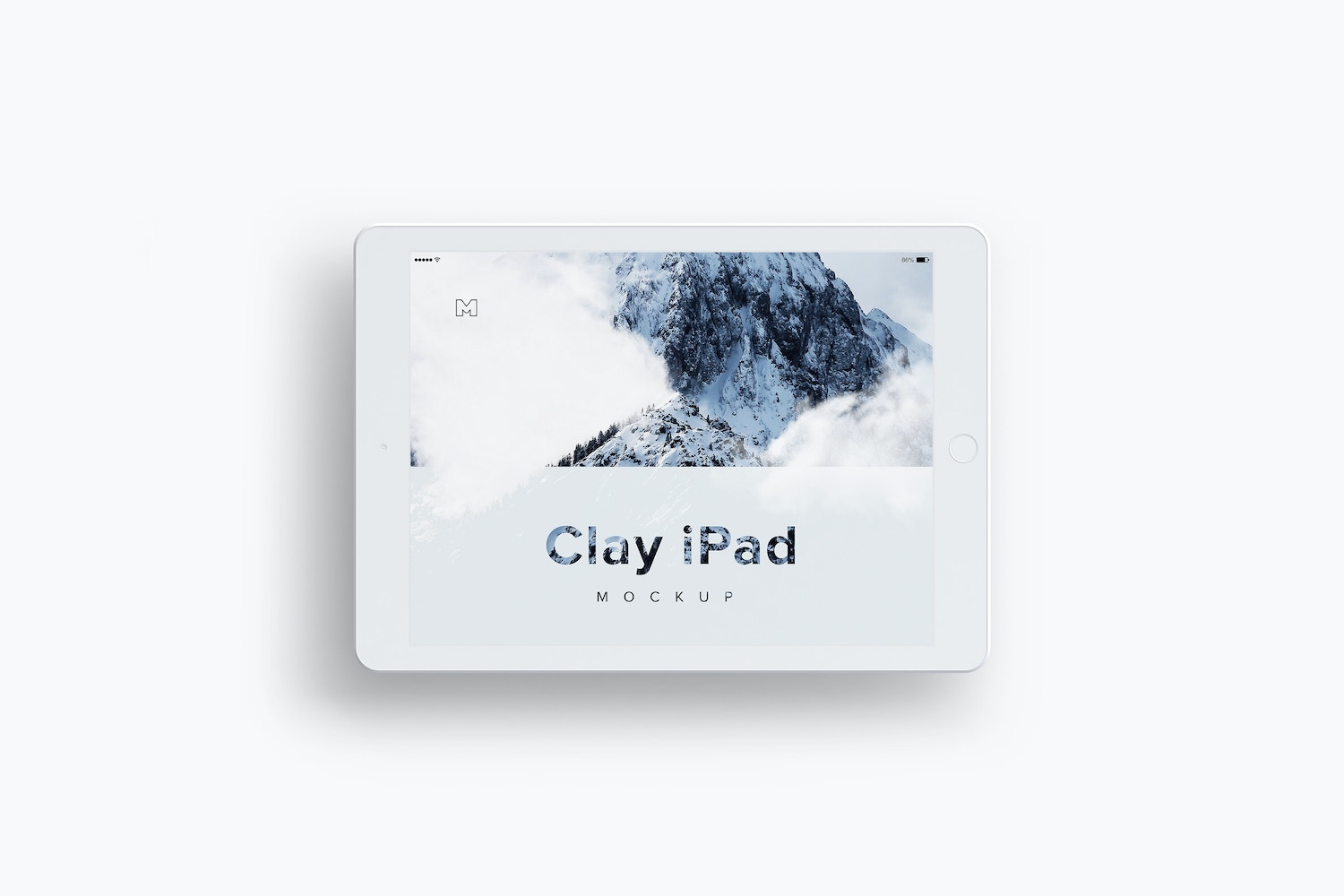 Clay iPad 9.7 Mockup 04 by Original Mockups on Original Mockups