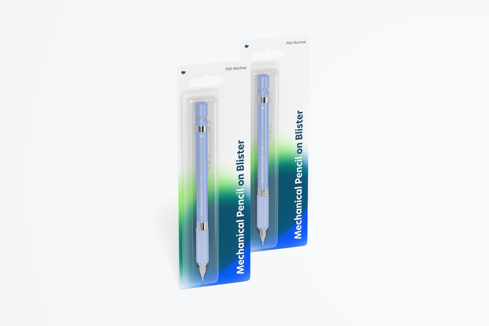 Mechanical Pencils on Blisters Mockup