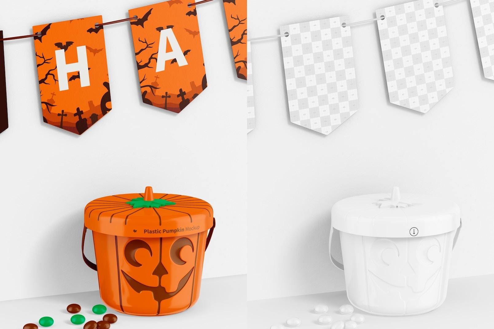 Plastic Pumpkin Mockup