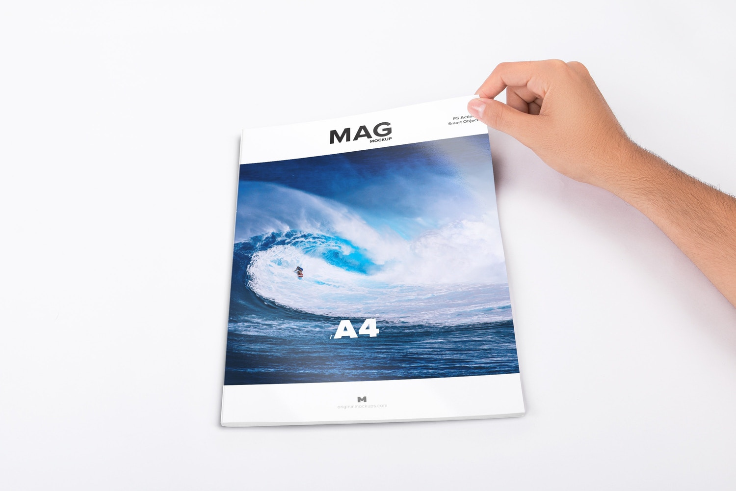 A4 Magazine Closed Mockup 02 by Original Mockups on Original Mockups