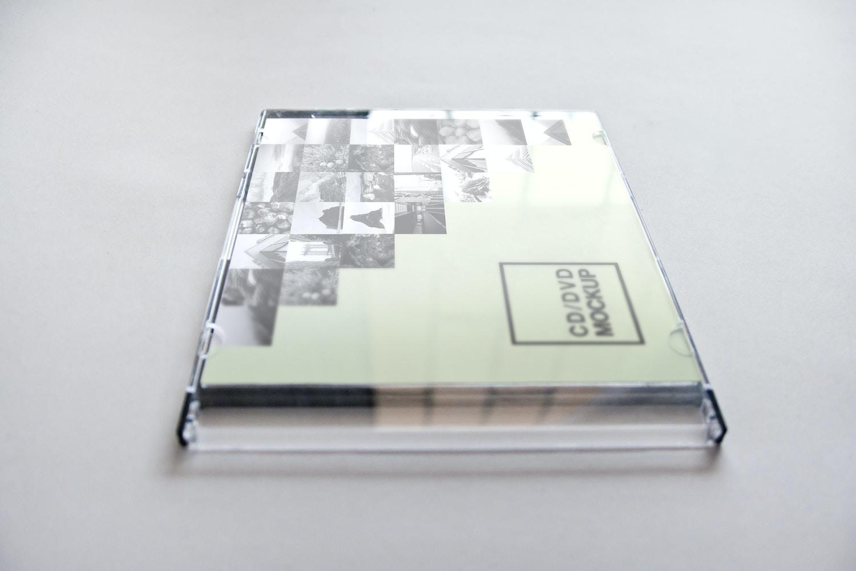 CD / DVD Jewel Case Cover Mockup 01