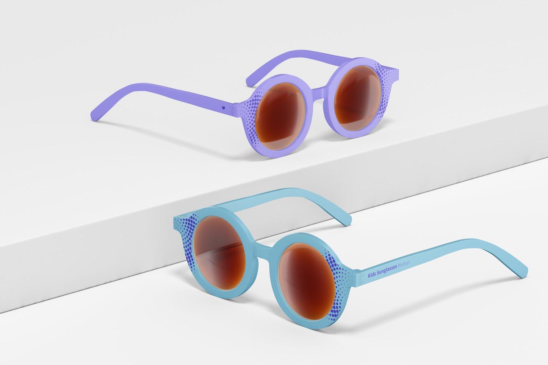 Kids Sunglasses Mockup, Perspective
