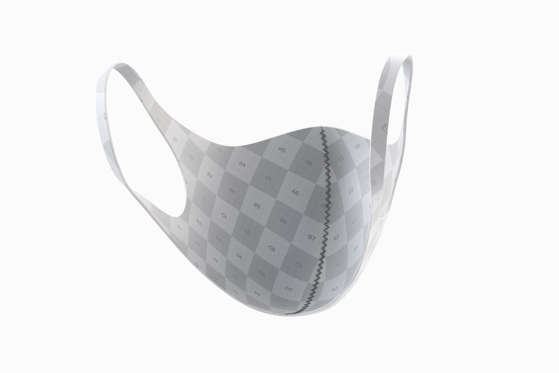 Neoprene Guard Face Mask Mockup, Interior View