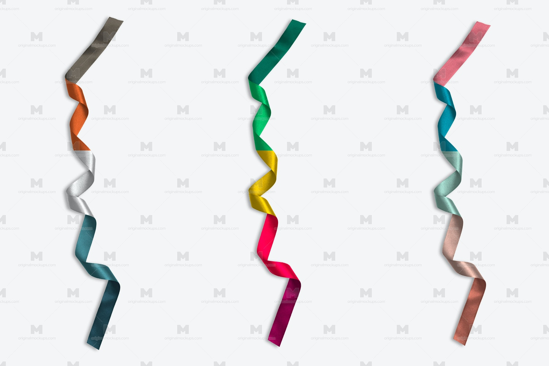 Christmas Colorful Ribbon Isolate por Original Mockups en Original Mockups