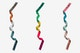 Christmas Colorful Ribbon Isolate