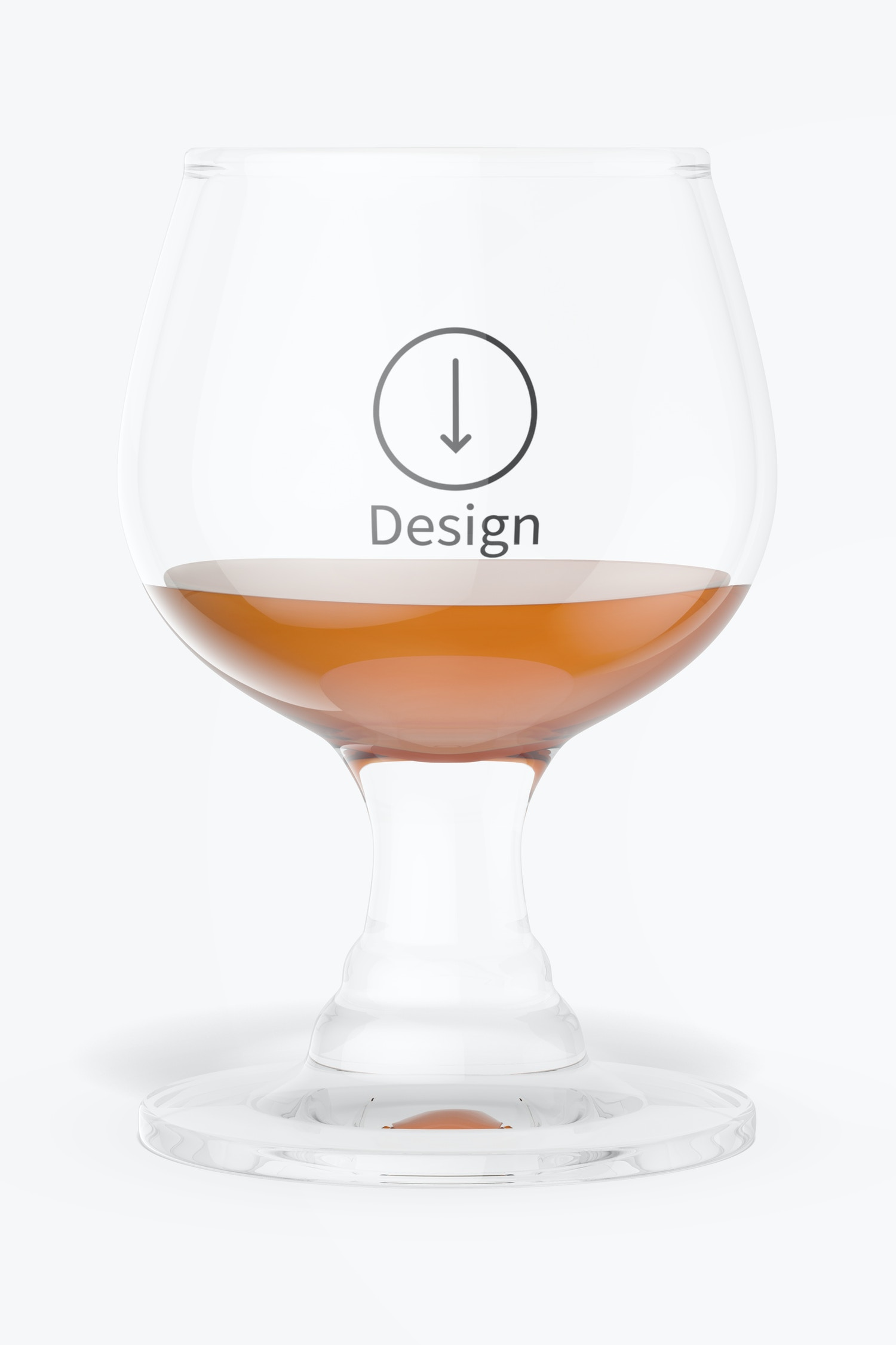 1.7 oz Glass Brandy Cup Mockup, Front View