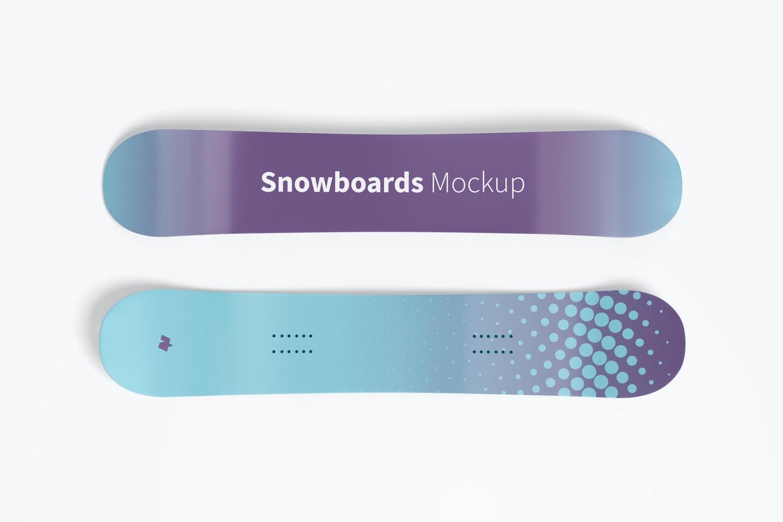 Snowboard Mockup, Top View