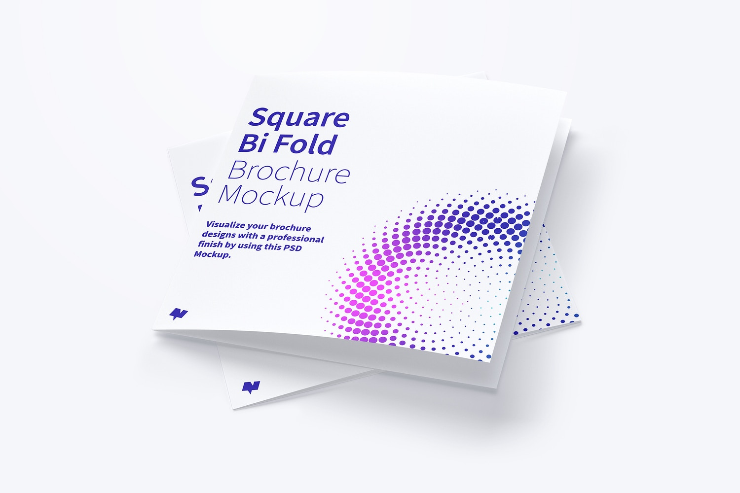 Square Bi Fold Brochure Mockup 06 by Original Mockups on Original Mockups
