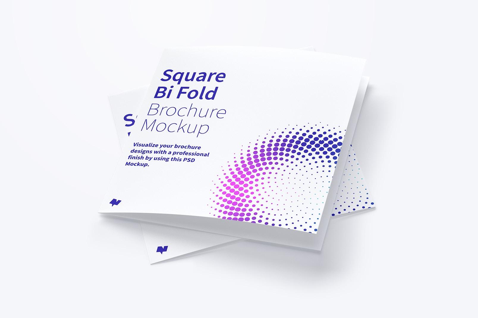 Square Bi Fold Brochure Mockup 06