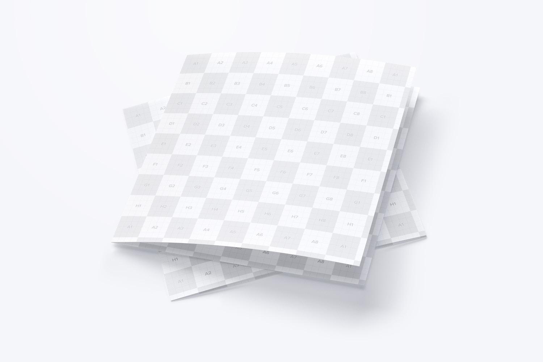 Maqueta de un Folleto Díptico Cuadrado 06 (3) por Original Mockups en Original Mockups