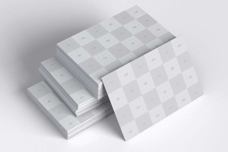 Maqueta de Tarjeta de Presentación Formato UK 08