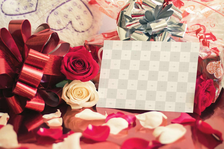 Valentine Card Mockup 04 (2) by Eru  on Original Mockups