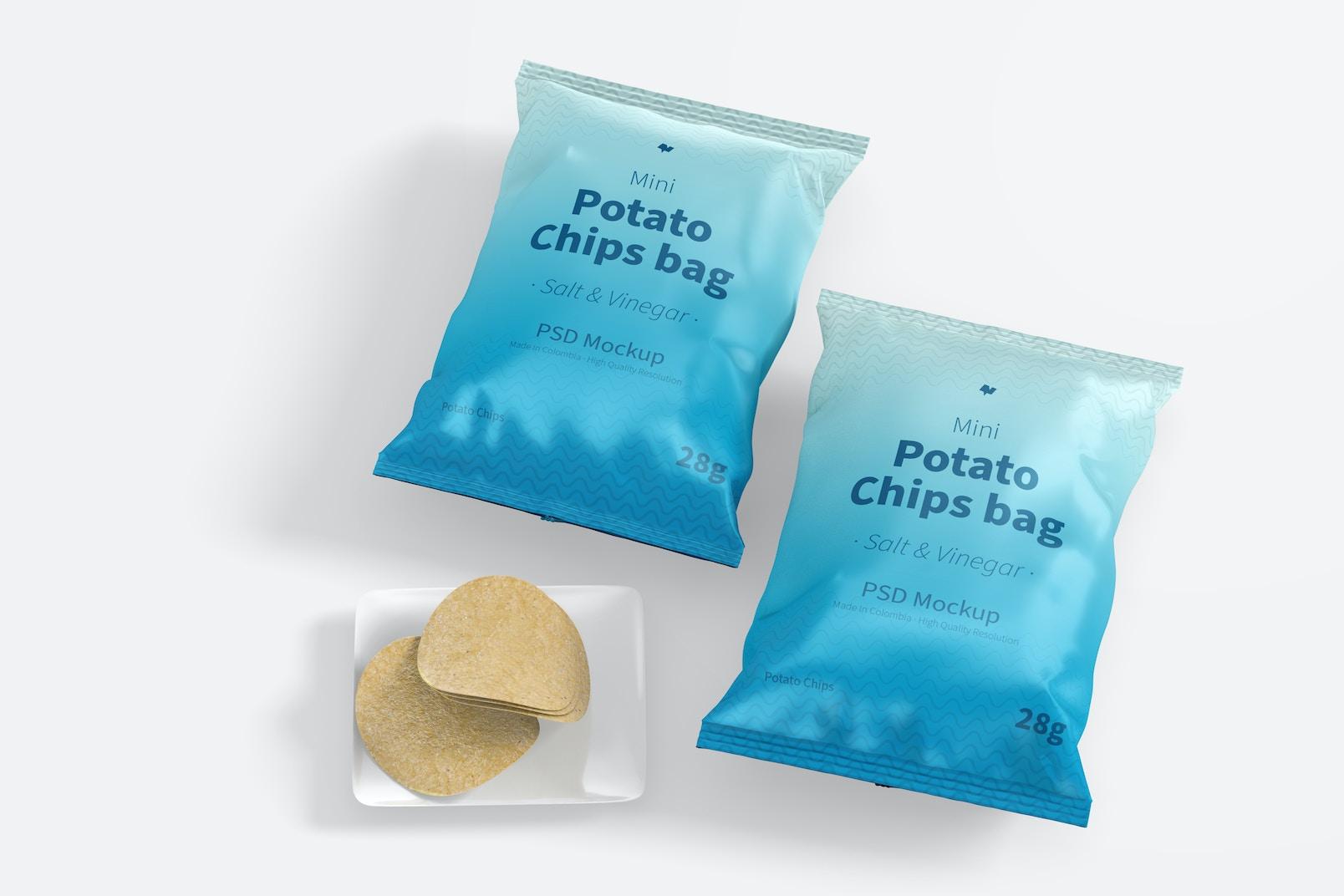 Mini Potato Chips Bags Mockup