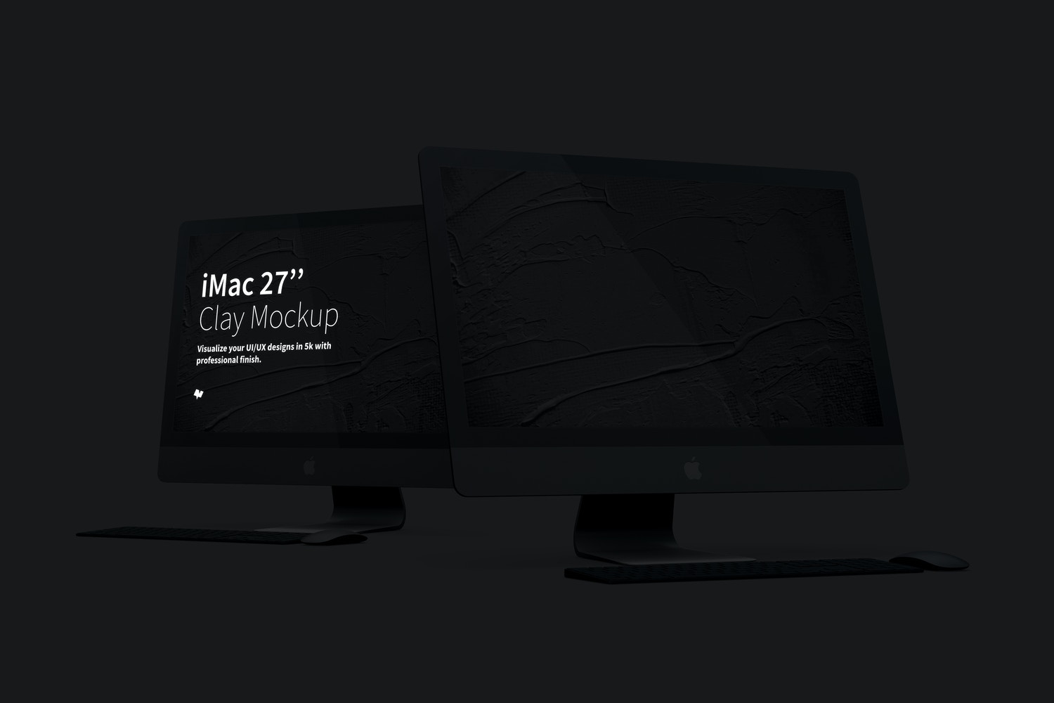 "Clay iMac 27"" Mockup (3) by Original Mockups on Original Mockups"