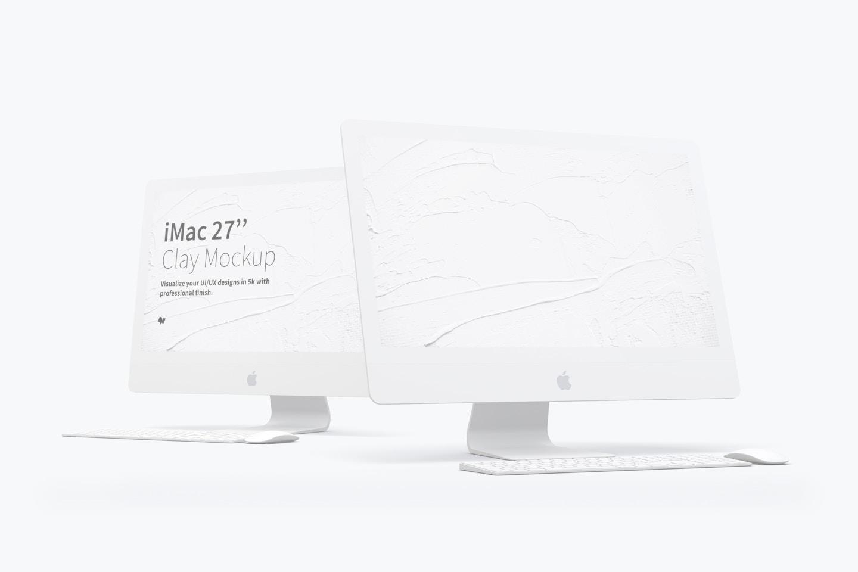 "Clay iMac 27"" Mockup"