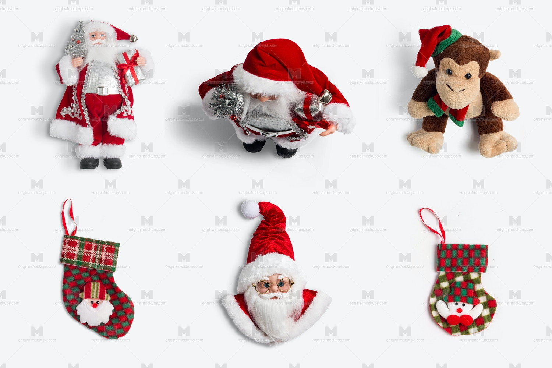 Christmas Santa Claus Figures Isolate por Original Mockups en Original Mockups
