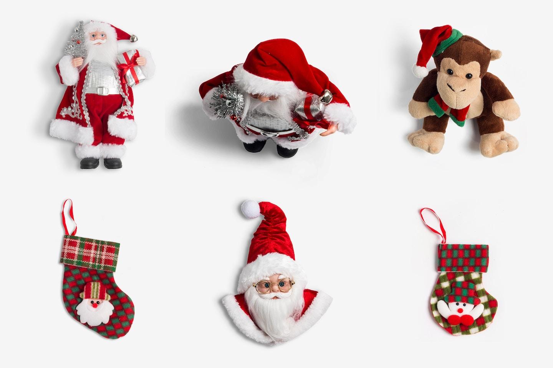 Christmas Santa Claus Figures Isolate