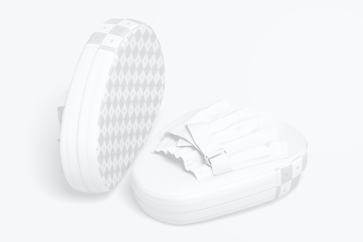Boxing Punching Mitts Mockup, Perspective