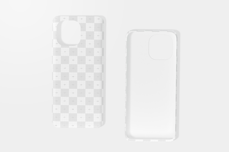 Xiaomi Cases Mockup, Top View