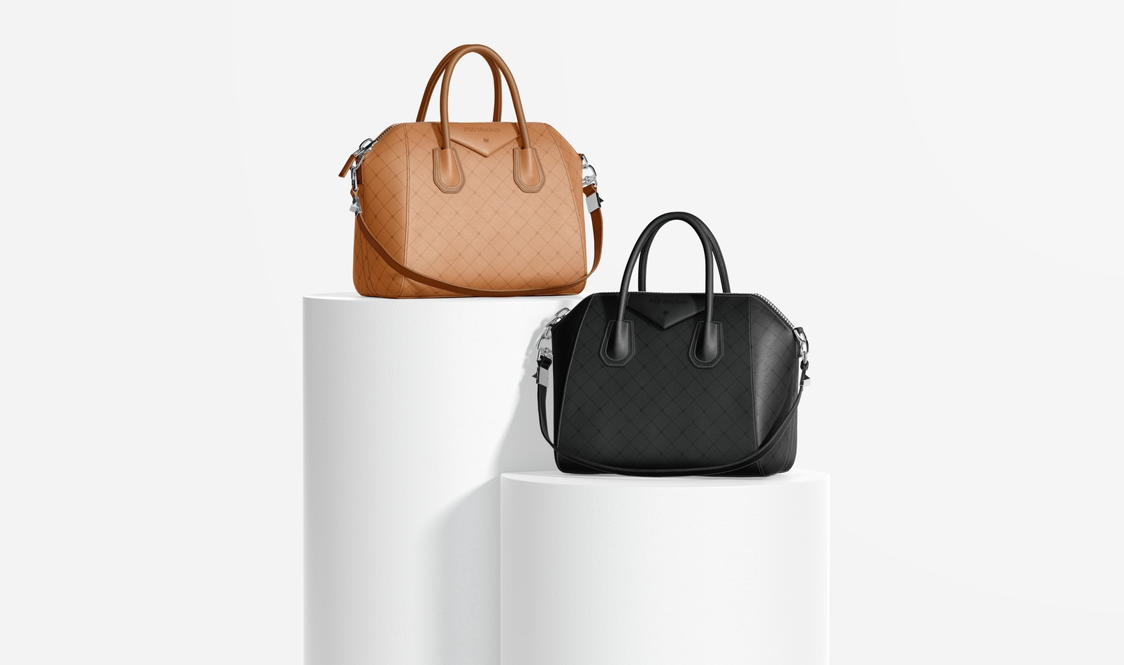 Women's Leather Bags Mockup