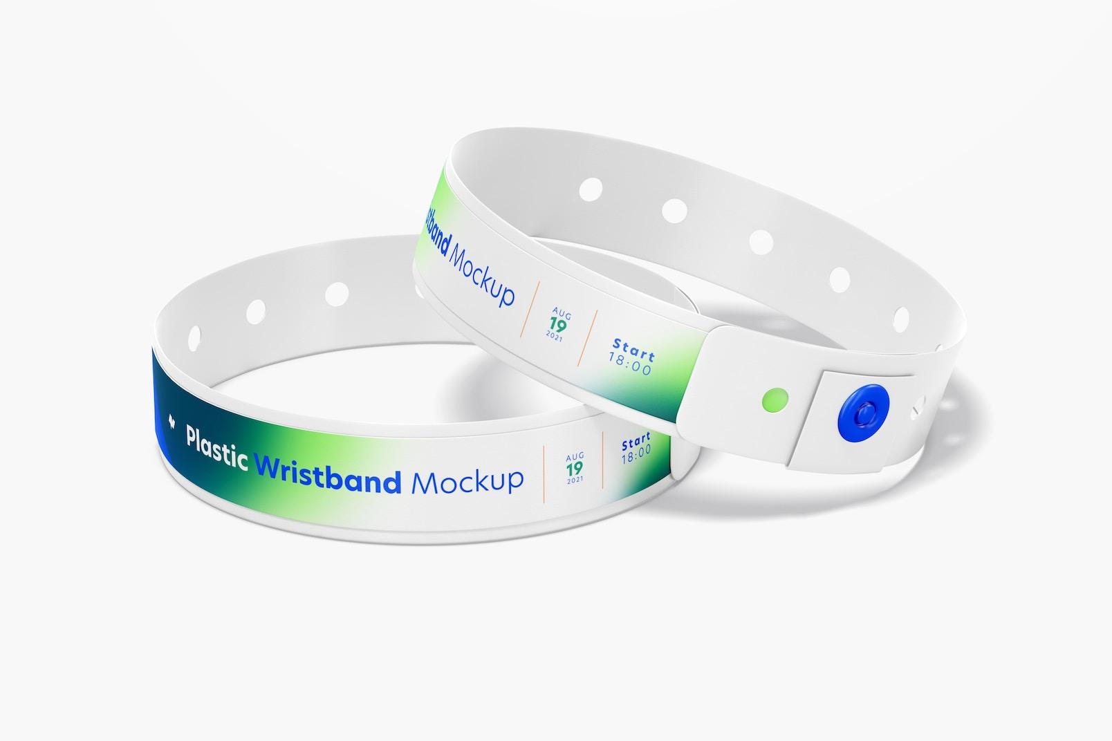 Plastic Wristband Mockup, Closed