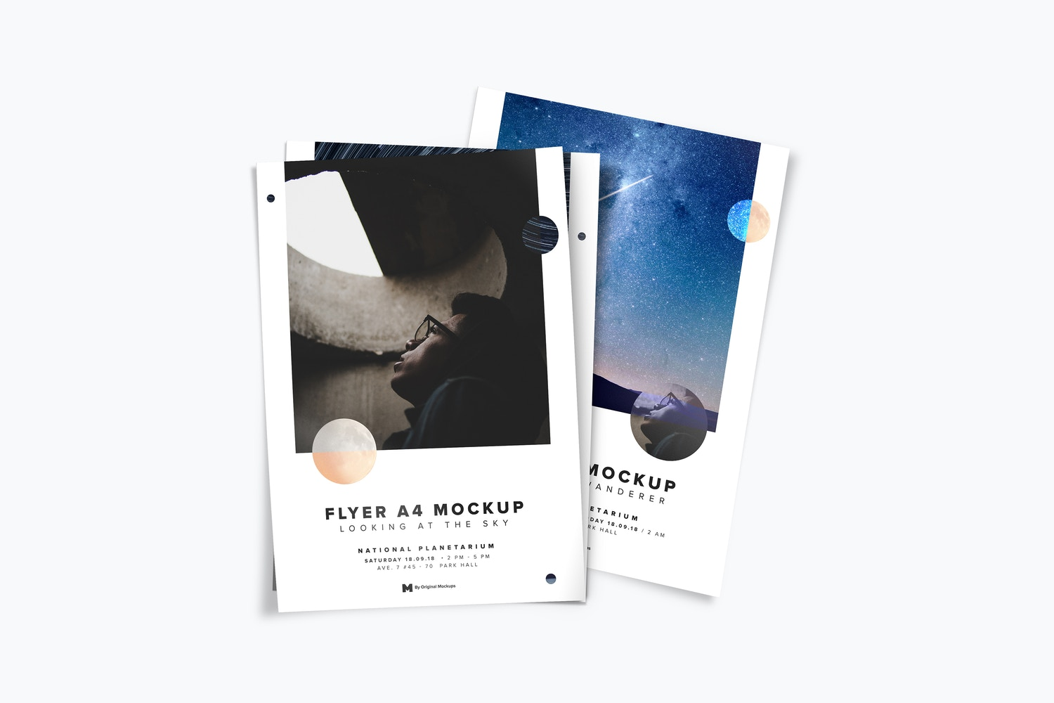 A4-A5 Flyer Stack Mockup 02 by Original Mockups on Original Mockups