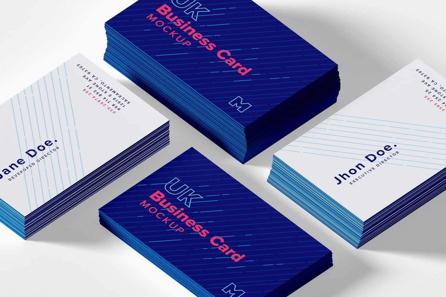 UK Business Cards Mockup 07 by Original Mockups on Original Mockups